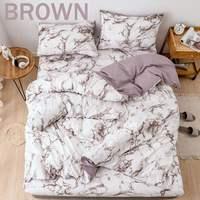 Marble Pattern Bedding Set Duvet Cover Set 2/3pcs Bed Set Twin Double Queen Quilt Cover Bed linen (No Sheet No Filling)
