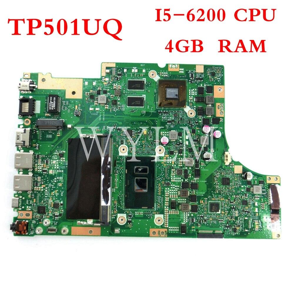 TP501UQ I5-6200CPU اللوحة الأم للكمبيوتر المحمول ASUS TP501UB TP501UQ الكمبيوتر المحمول اللوحة الأم 90NB0CV0-R00020 اختبار شحن مجاني