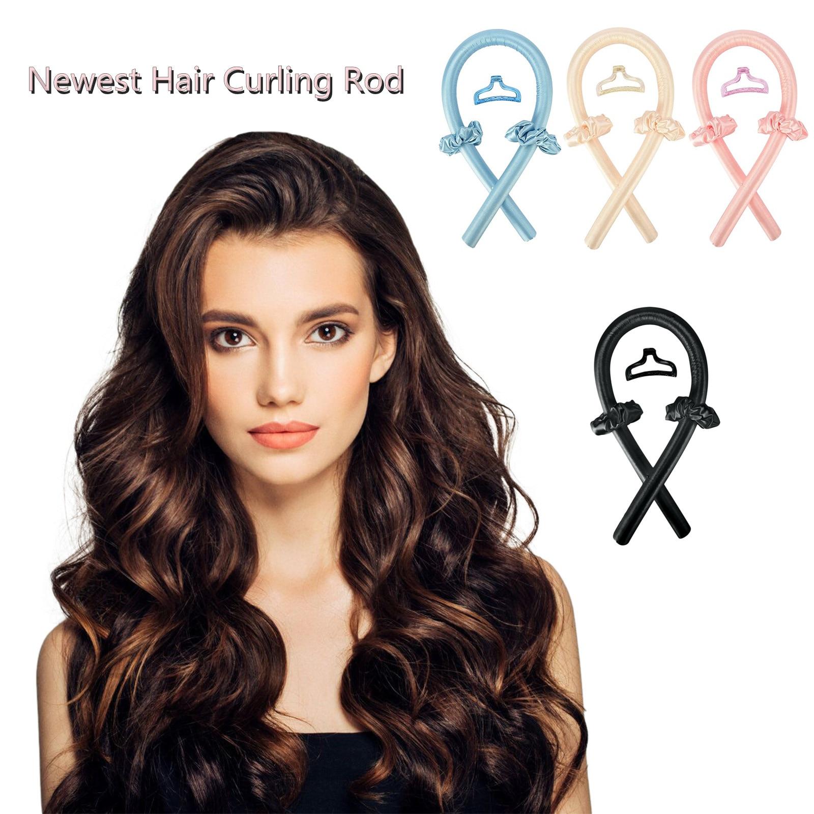 No Heat Curling Rod Heatless Curling Ribbon Curling Iron Sleeping Soft Hair Curling Iron Hairdressing Tool Hair Rollers