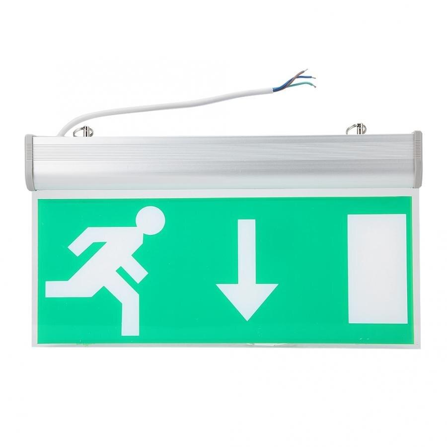 LED sortie de secours lumière acrylique LED sortie de secours éclairage signe sécurité évacuation indicateur lumineux 110-220V