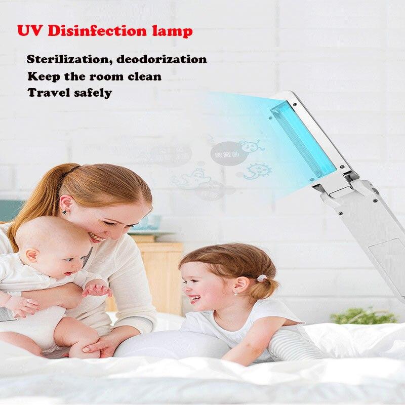 Portátil plegable UVC esterilizador palillo para luz ultravioleta varilla de desinfección habitación...