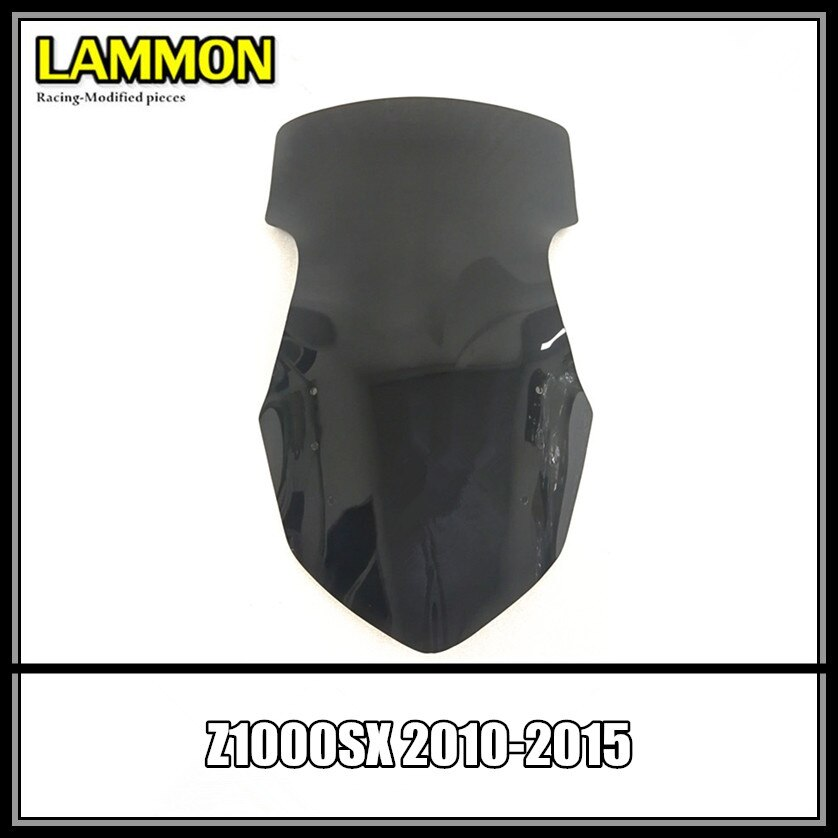 Z1000 SX الموسعة طبعة دراجة نارية اكسسوارات الأسود و شفافة الزجاج الأمامي لكاواساكي Z1000SX 2010-2015 النينجا 1000