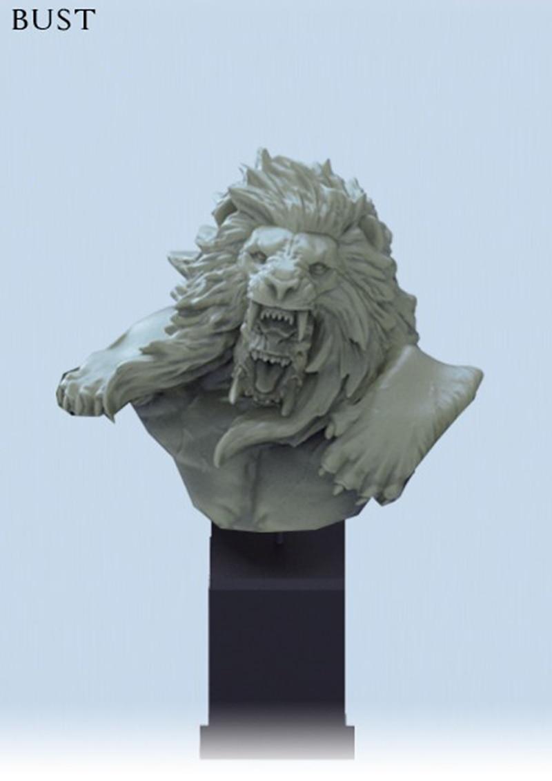 Busto (sin BASE) de guerrero de fantasía antigua de 1/10, figura de resina en miniatura, kits de gk en miniatura sin montar