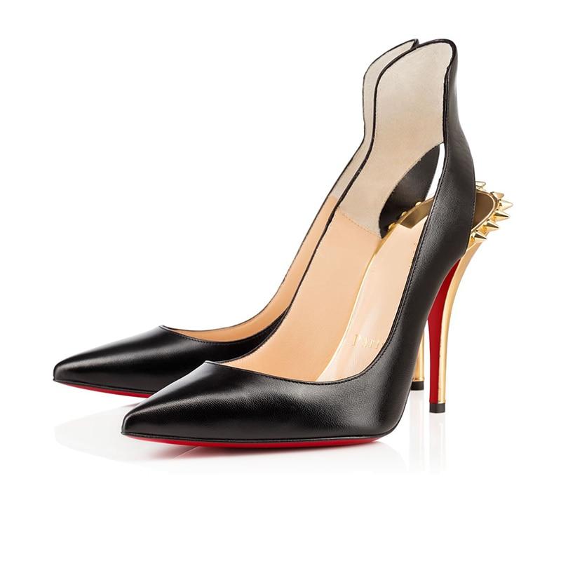 Ladies Luxury Pumps Sexy Platform Clear Women High Heels 8 10 12cm Red Bottom Mules Wedding Party Sh