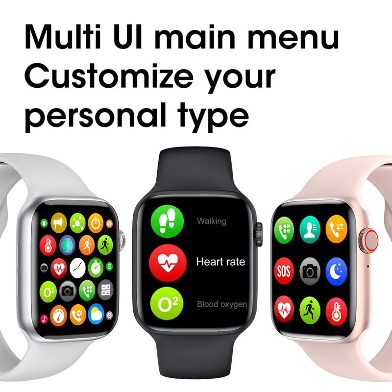 10 PCS W37 2021 Smart Watch IWO 14  Series 7 Bluetooth Call 1.75 Split Screen Password Lock Sports Smartwatch For Android IOS