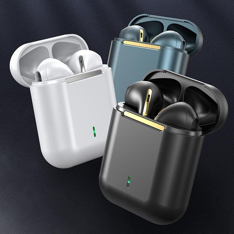 Fones de Ouvido sem Fio com Cancelamento de Ruído Novo Original Bluetooth Toque Pop-up Verdadeiro Estéreo 5.0 Esporte J18 Tws