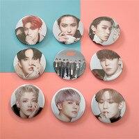 1pcs Kpop ATEEZ badge new album TREASURE EPILOGUE Action To Answer metal brooch new arrivals wholesale hot sale