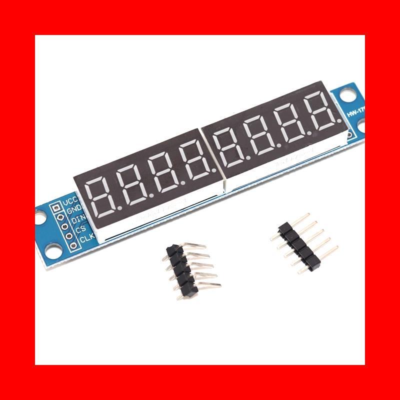 max7219 led microcontroller 4 in 1 display dot matrix module 5v operating voltage for arduino 8x8 dot matrix common MAX7219 LED Dot matrix 8-bit digital tube display control module 3.3V 5V microcontroller serial driver 7-segment
