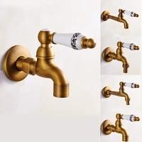 Robinet de lavabo en laiton Antique  robinet de cuisine  robinets de jardin  lavabo mural  salle de bains  vadrouille  robinet de Machine a laver