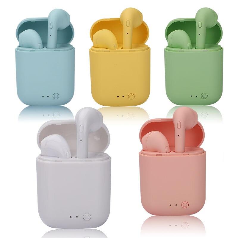 Mini-2 TWS беспроводные наушники Bluetooth 5,0 наушники TWS Matte Macaron наушники с микрофоном зарядная коробка гарнитура беспроводные наушники