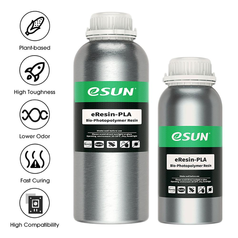 eSUN Plant-Based 405nm Biodegradable PLA Resin for Photon LCD 3D Printer Printing Material UV Curing Resin 0.5/1KG Liquid Resin