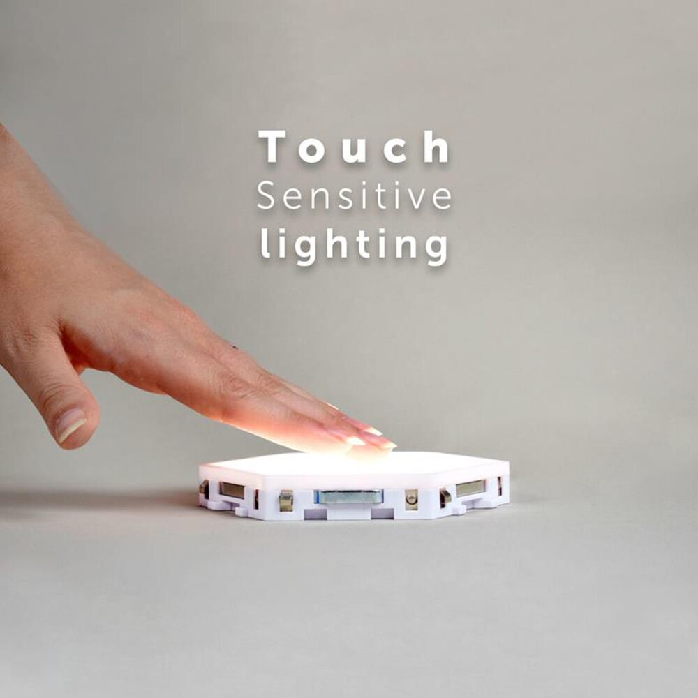 10pcs/set LED Night Light Touch Sensitive Modular Light Magnetic Creative Decoration Lamp DIY Panel Lamp Novelty Hexagonal Light enlarge