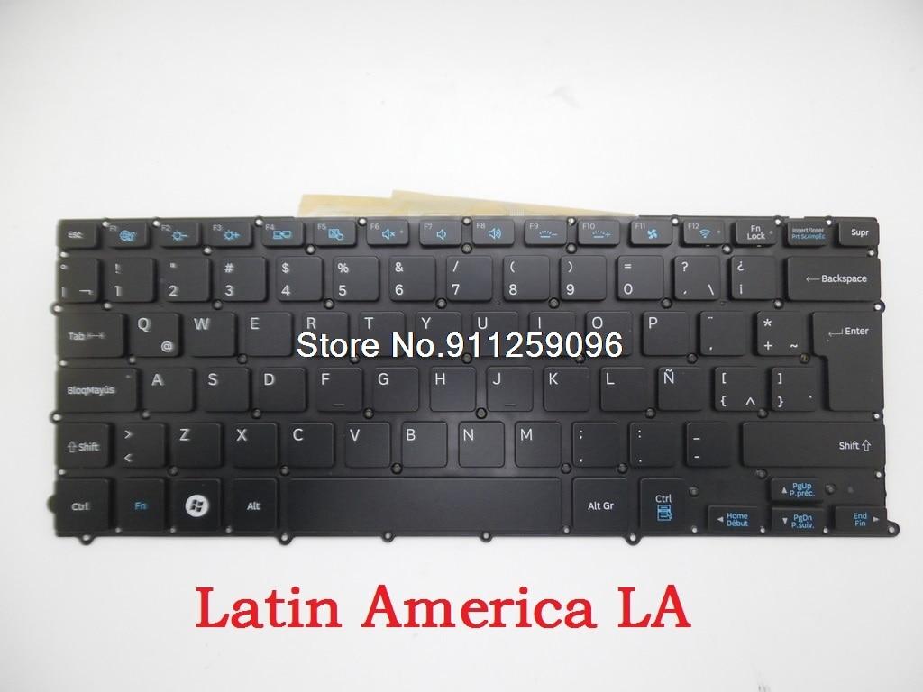 لوحة مفاتيح سامسونج NP900X3B NP900X3C NP900X3D NP900X3E 900X3B اللاتينية لا فرنسا FR بلجيكا تكون السلوفينية SL SV إسبانيا SP الخلفية