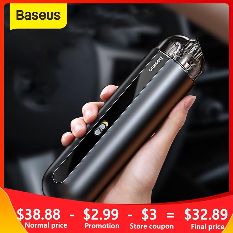 Aspiradora de automóvil Baseus, aspiradora de automóvil inalámbrica portátil 5000Pa, aspiradora portátil Mini para el hogar/coche/Oficina