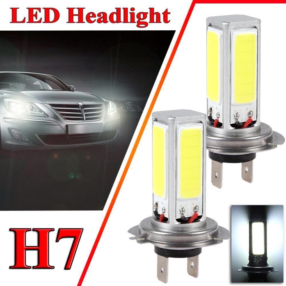 2PCS H7 6000K 80W 2400LM LED Auto Anti-nebel Licht Bulb Driving Tagfahrlicht Lampe COB led-lampen Scheinwerfer Für Motorrad SUV ATV