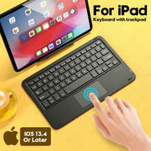 Для iPad клавиатура с тачпадом, Teclado Bluetooth-совместимая клавиатура для iPad Pro 11 12,9 2020 10,2 7th 8th Air 3 4 клавиатура
