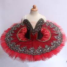 Red Professional Ballet Tutu Ballet Dresses For Adults Child Kids Pancake Swan Lake Ballerina Tutu B