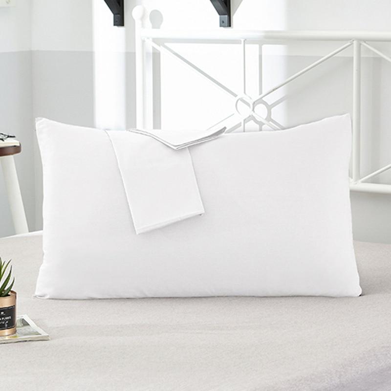 Nuevo 2020 ropa de cama 70x70cm 50x75cm 66x66 funda de almohada 2 piezas de algodón Hotel funda de almohada 18 funda de color sólido