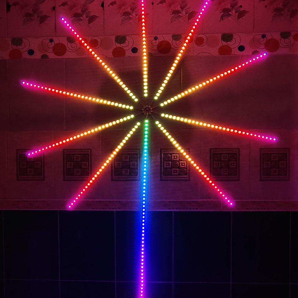 Рождественский фейерверк с музыкальным управлением фонарик метеорисветильник Сказочный свет Хэллоуин свадьвечерние НКА DIY Декор RGB Led