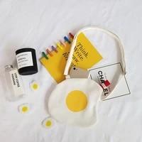 new fashion super hot summer poached egg small bag cute cartoon messenger bag canvas bag shoulder bag female soft girl