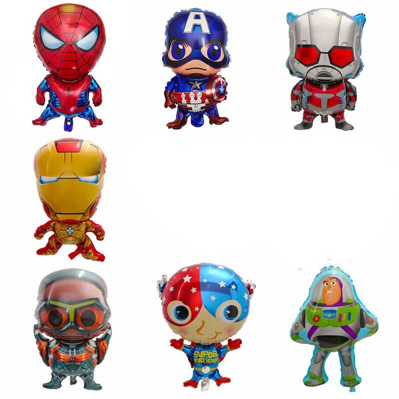 بالونات الأبطال الخارقين من الألومنيوم ، 50 قطعة ، سبايدرمان ، كابتن ، أيرون مان ، باتمان ، ألعاب أطفال ، زينة حفلات أعياد الميلاد