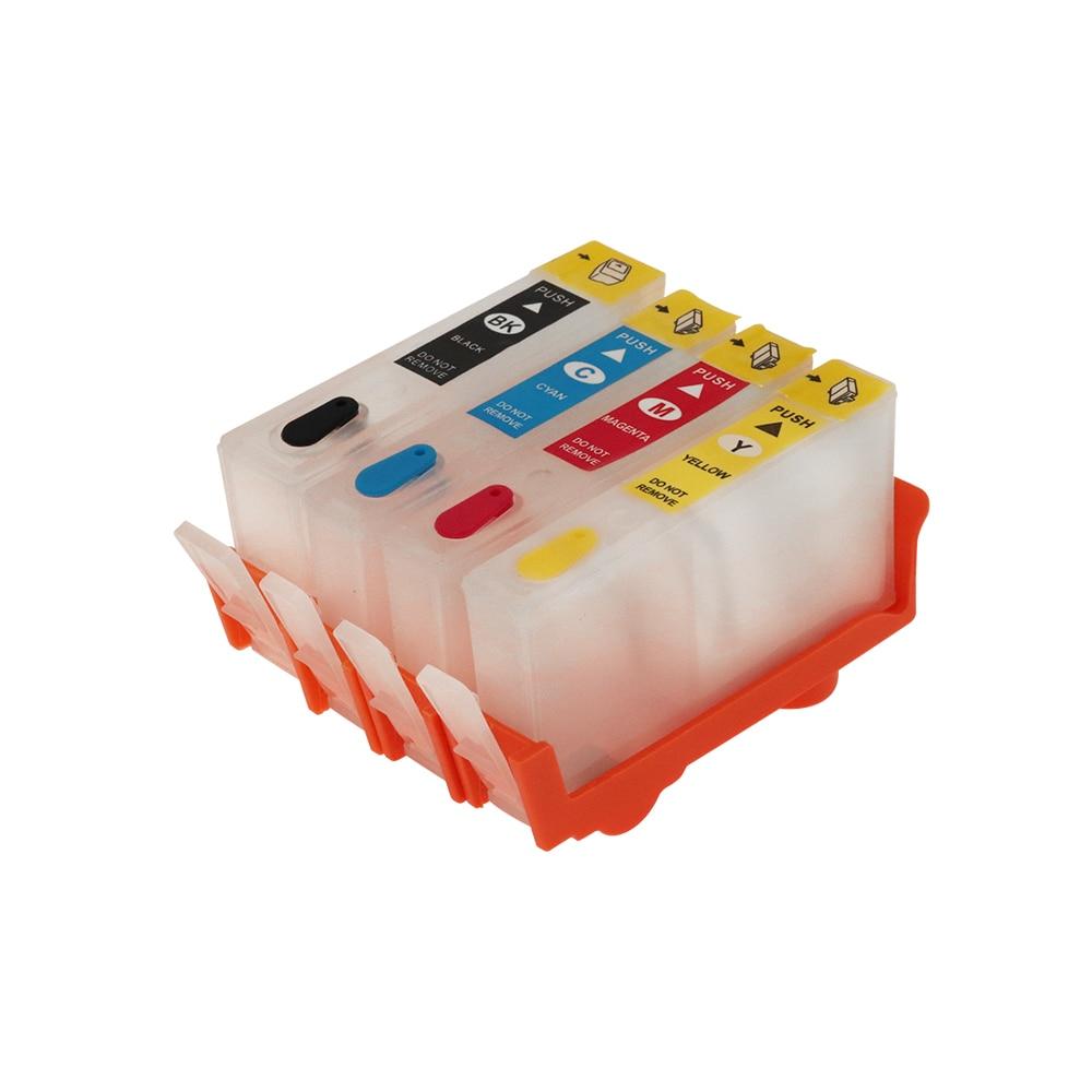 Para HP904 HP 904 cartucho de tinta rellenable con arco chips para HP OfficeJet Pro 6950, 6951, 6954, 6956, 6970 todo-en-uno impresoras