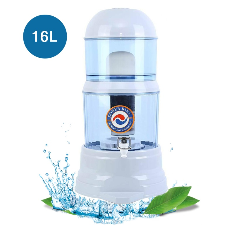 Yonntech 16L Water Filter Ceramic Carbon Mineral Bench Dispenser Remove Rust Sediment Filtering Suspended Purifier