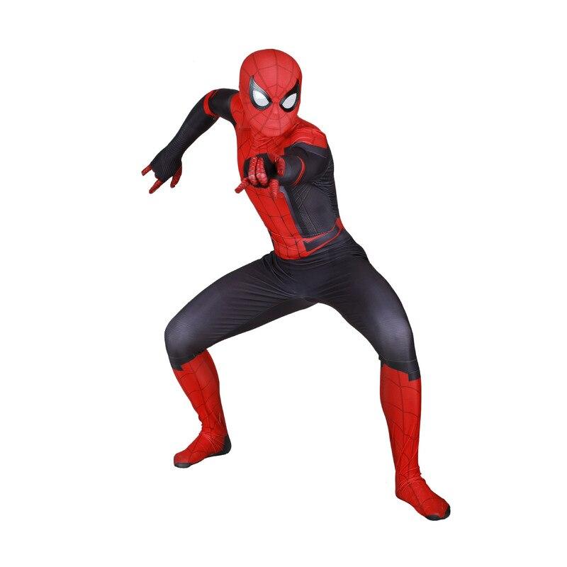 4 estilos niños Spider Man lejos de casa Peter Parker Cosplay disfraz Zentai Spiderman superhéroe mono
