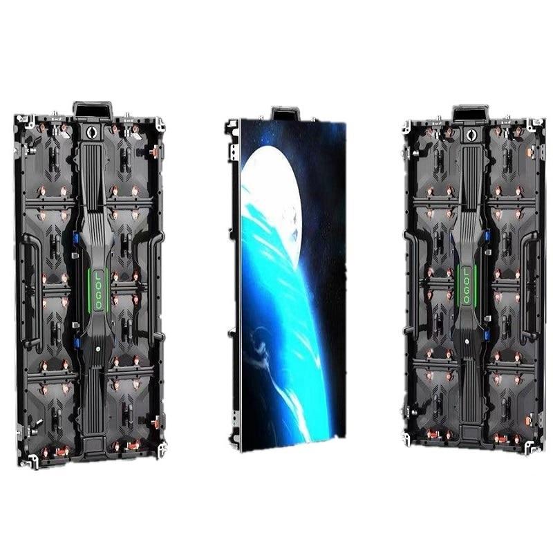 P3.91 في الهواء الطلق نمط جديد من الألومنيوم المصبوب لوحة ليد خزانة 500 مللي متر * 1000 مللي متر P3.9 يشمل novastar