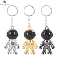 creativity fashion 3 colors handmade keychain astronaut space robot metal toy model key ring for men friend car cute gift