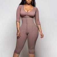 Shapewear de couleur unie nouveau bustier une pièce Shapewear haute Compression Faja soutien-gorge taille formateur 2020