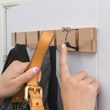 Foldable Coat Rack  Hallway Hat Hook Hanger Bedroom Door Wall-Mounting Hook Corner Room Kitchen Toilet Wall Brack Hook