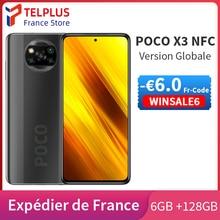 - €6 Code WINSALE6 ,Xiaomi POCO X3 X 3 NFC Version globale Smartphone 6GB 128GB ROM 6.67 120Hz affichage Snapdragon 732G 64MP Quad caméra 5160mAh 33W