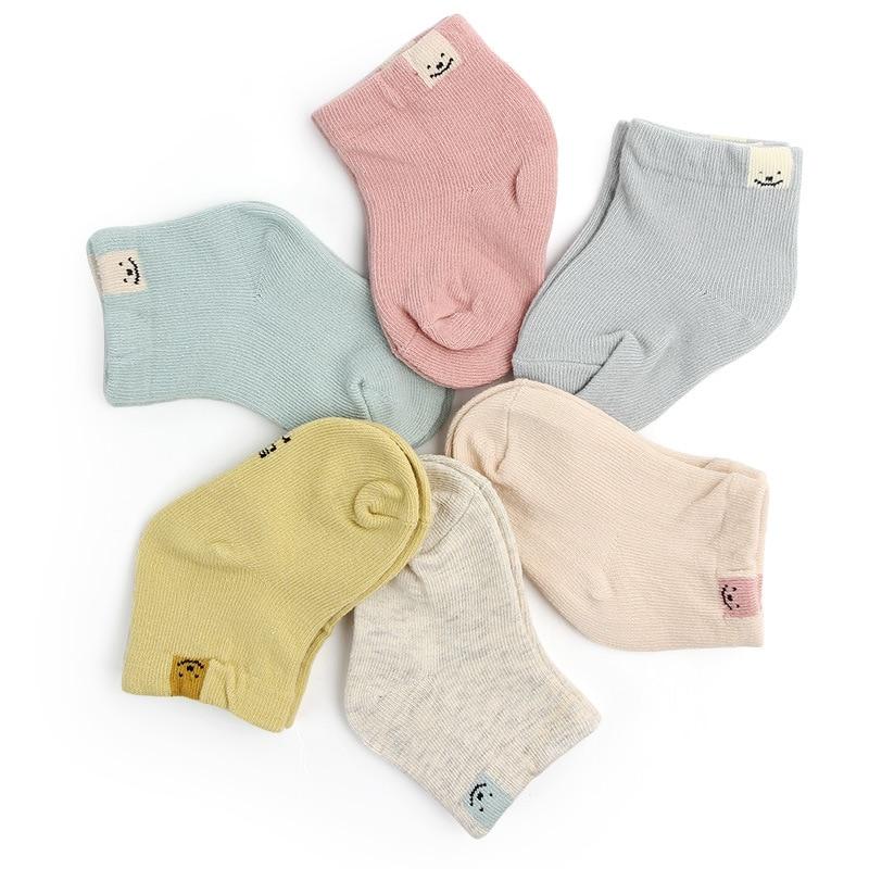 1 Pair Spring Autumn New Cotton Fashion Cute Unisex Baby Newborn Fresh Candy Color Socks Sock