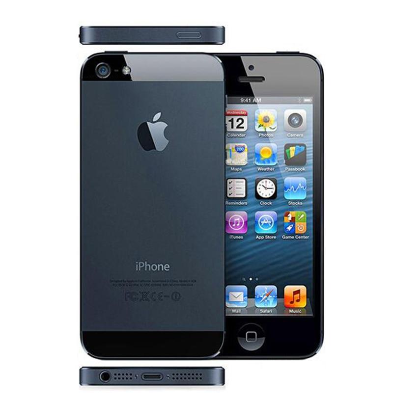 Original desbloqueado iPhone 5 Dual-core 1G RAM 16GB/32GB/64GB ROM 4,0 pulgadas 8MP Cámara WIFI GPS teléfonos celulares