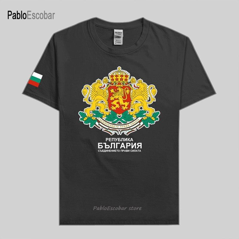 Camiseta Búlgara para hombre, jerséis a la moda, camiseta de la Nación, 100% de equipo, Camiseta de algodón, ropa top country sporting BGR