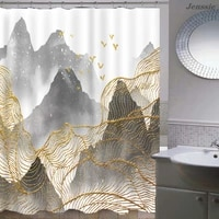 landscape bathroom curtains for bath showering waterproof fabric bathroom decor ancient rhyme culture shower curtain with hooks