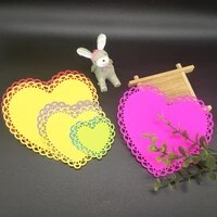 beautiful 3 layer peach heart lace loving metal cutting mold decorative scrapbook template diy relief manual