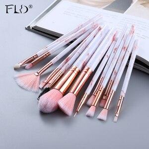 FLD 5/15Pcs Makeup Brushes Tool Set Cosmetic Powder Eye Shadow Foundation Blush Blending Beauty Make Up Brush Maquiagem