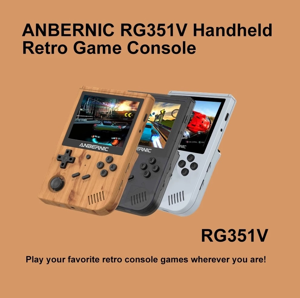 ANBERNIC New RG351V Retro Games Built-in 16G RK3326 Open Source 3.5 INCH 640*480 handheld game console Emulator For PS1 kid Gift enlarge