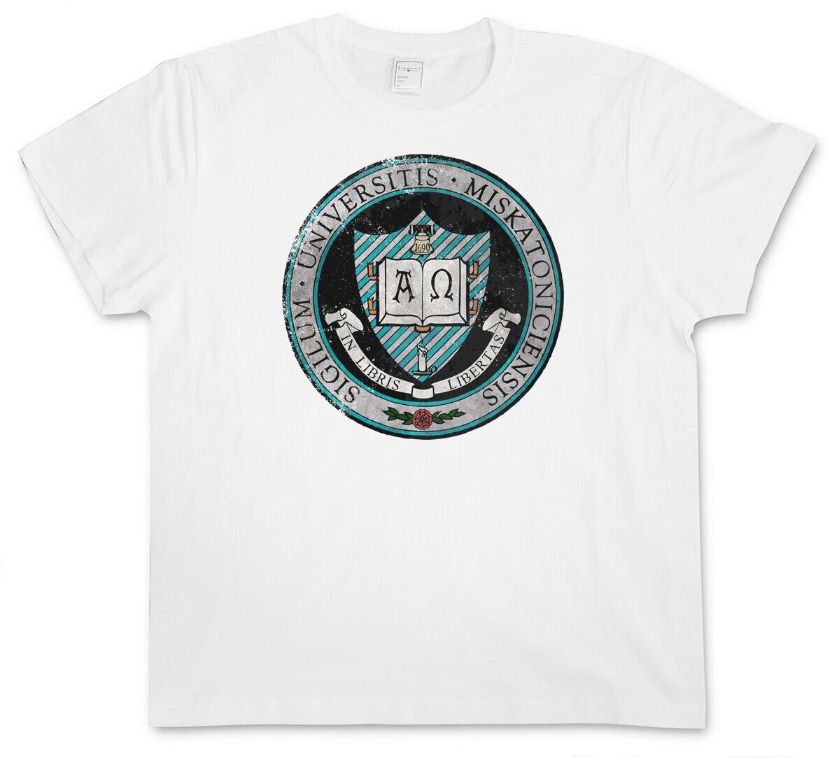 La Universidad de Miskatonic V camiseta Vintage-Arkham Lovecraft Hp señal Cthulhu a