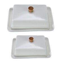Weiß 6/8 Zoll Sushi Teller Obst Käse Platten Keramik Butter Gericht Kompott Küche Exquisite Abdeckung Lagerung Box Container Halter