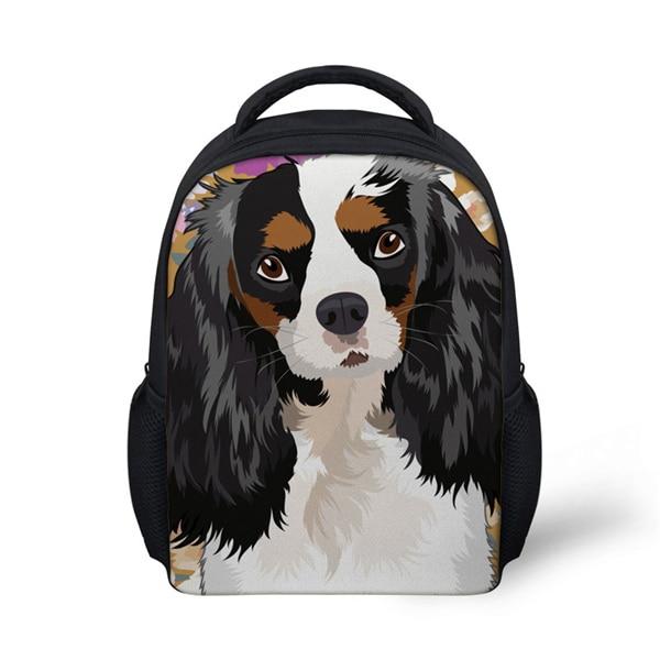 pug dog husky printing backpack for children girls Children School Bags for Kids King Charles Spaniel Dog Printing Schoolbag Baby Kindergarten Backpack Girls Cute Satchel