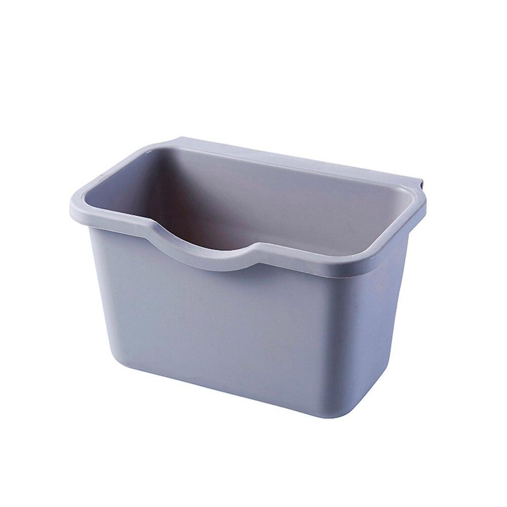 Pendurado lata de lixo sucção parede armário cozinha porta lixo bin escritório em casa desktop papelaria organizador recipiente lixo
