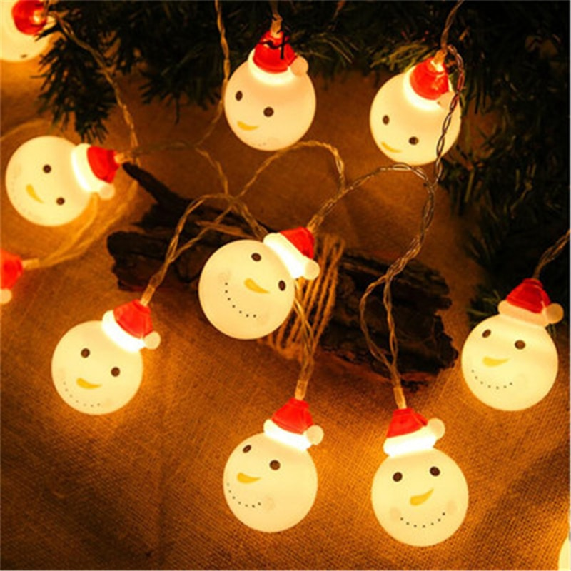 new year garland led christmas lights outdoor luces navidad led cristmas lights decoration waterfull string light luzes de natal USB Snowman Christmas Tree LED Garland String Lights Snowflakes String Fairy Lights Hanging Ornaments for Navidad Natal New Year