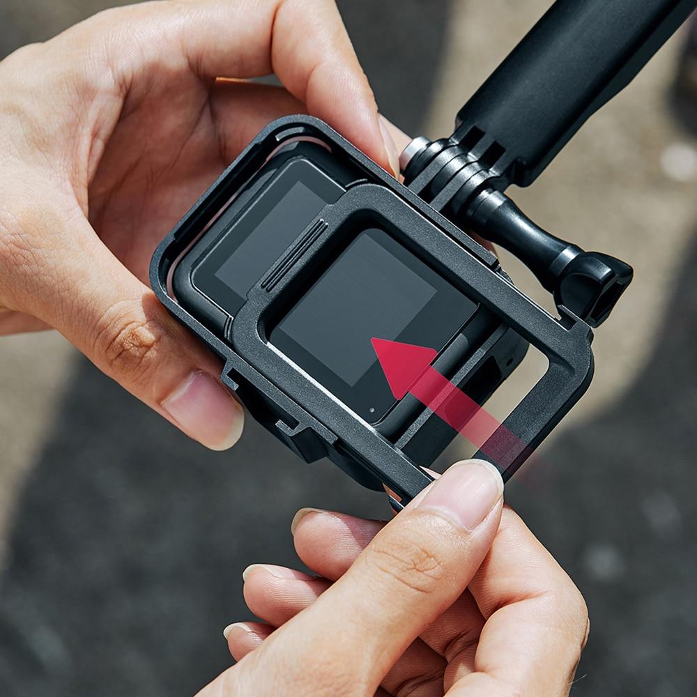 Marco de liberación rápida para GoPro Hero 8 Carcasa protectora Luz de vídeo soporte de montaje de micrófono accesorio de cámara de acción