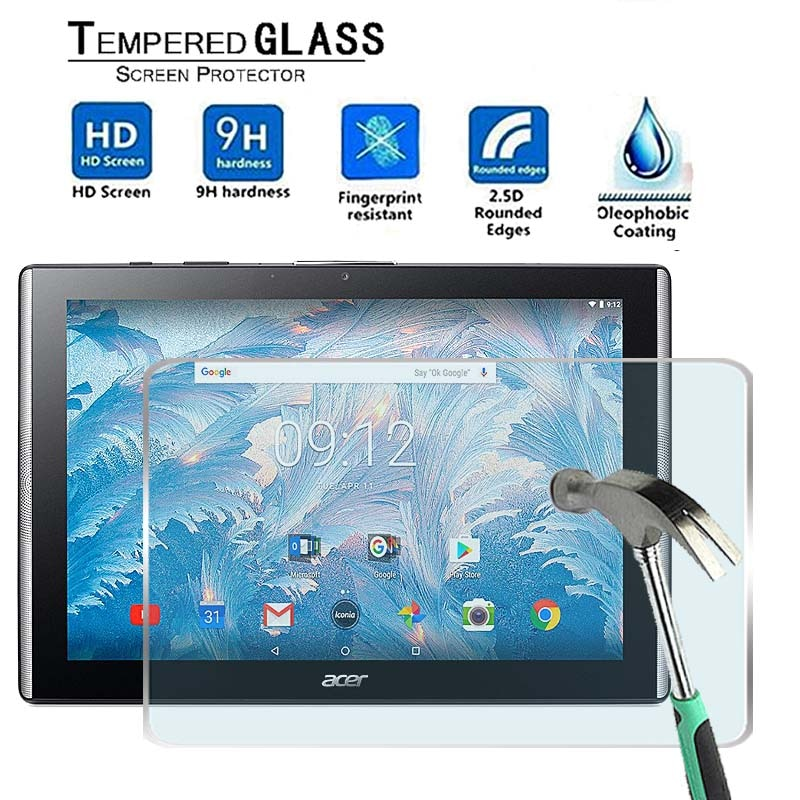 2pcs tablet tempered glass screen protector cover for acer iconia one 10 b3 a50fhd anti screen breakage tempered film For Acer Iconia One 10 B3-A40 -Premium Tablet 9H Tempered Glass Screen Protector Film Protector Guard Cover