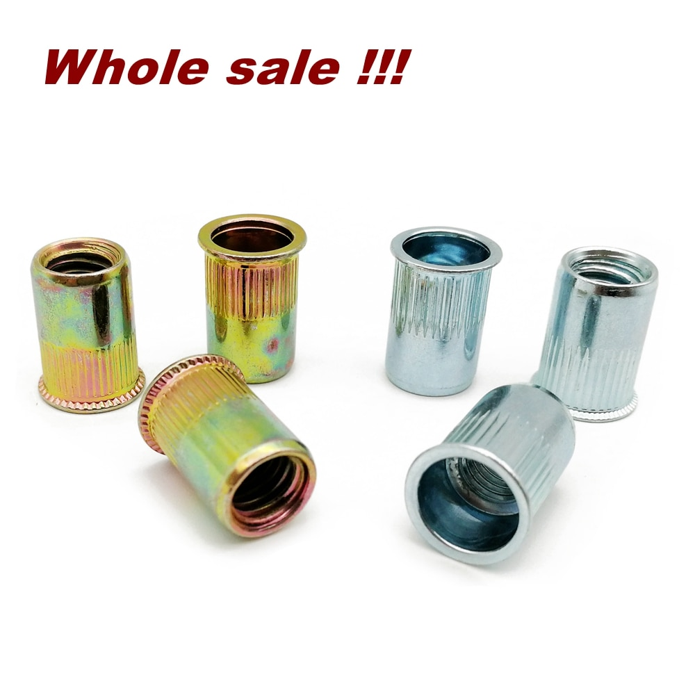 Whole sale Carbon Steel Reduce Head Rivet nut M3 M4 M5 M6 M8 M10 Blind Insert Nut  Small head rivet nut countersunk head