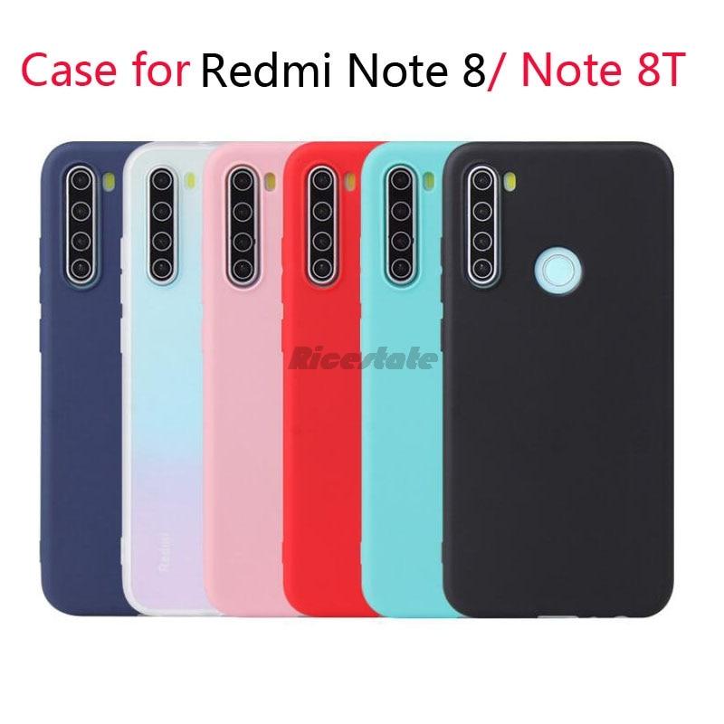 Funda Redmi Note 8 8T blando colores caramelo carcasa de silicona TPU para Redmi Note8 8T fundas de caramelo mate Note 8 8T contraportada
