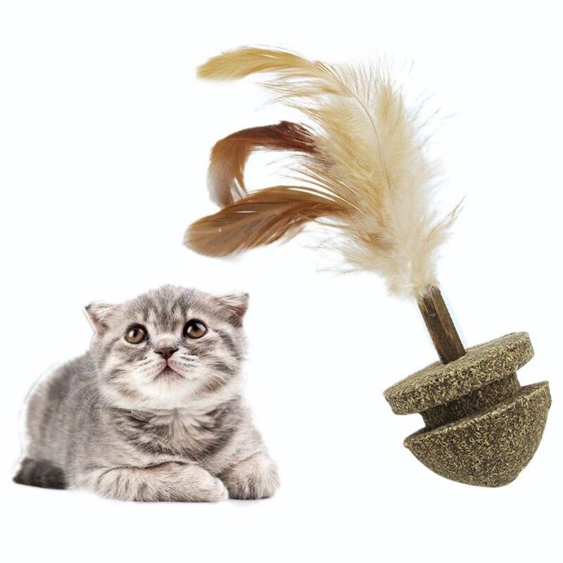 1 Pza juguetes de hierba gatera para gatos pelota de juguete de gato y pluma suave trata juguetes de gatito interactivo gato katten speelgoed